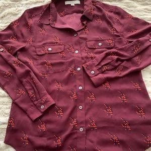 Purple Blouse/Button Down